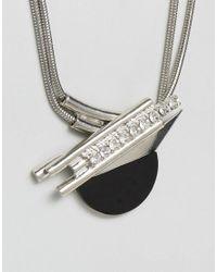 ASOS - Metallic Art Deco Shard Pendant Necklace - Lyst