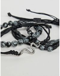 Reclaimed (vintage) - Inspired Bracelet Pack In Black Exclusive At Asos for Men - Lyst