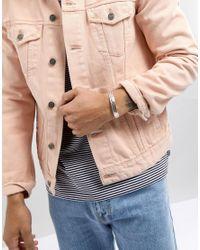 Icon Brand - Metallic Premium Cuff In Antiqued Silver for Men - Lyst