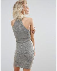 Daisy Street - Gray Bodycon Dress - Lyst