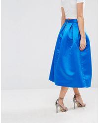 Closet - Blue Closet Sateen Prom Skirt With Boxpleats - Lyst