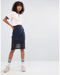 55197ce75 adidas Originals Originals Osaka Midi Skirt In Navy in Blue - Lyst