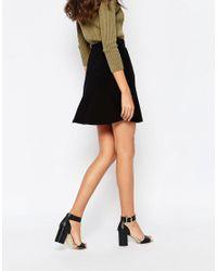 ASOS | Black Skater Skirt With Pockets | Lyst