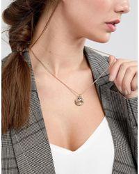 ASOS DESIGN - Metallic Icon Charm Cluster Necklace - Lyst