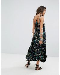 Free People - Black Pages Of Gold Maxi Dress - Lyst