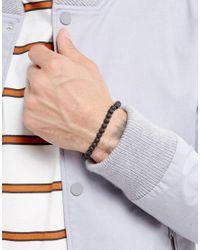 Jack & Jones - Wood Beaded Bracelet In Black for Men - Lyst