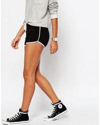 ASOS - Black Asos Basic Runner Shorts With Contrast Binding - Lyst