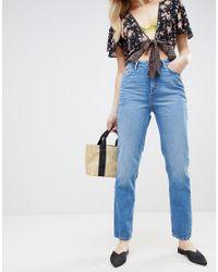 New Look - Blue Wash Straight Leg Jean - Lyst