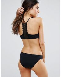 Seafolly - Black Laced Hipster Bikini Bottoms - Lyst