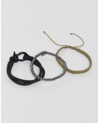 Icon Brand - Black Combo Bracelet In 4 Pack for Men - Lyst