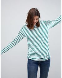 ASOS DESIGN - Blue Asos Stripe T-shirt With Long Sleeve In Oversize Fit - Lyst