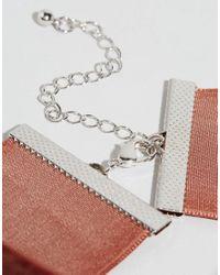 ASOS - Brown Wide Velvet Choker Necklace - Lyst