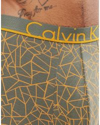 Calvin Klein - Green Trunks Id Cotton for Men - Lyst
