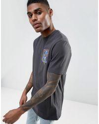 ASOS - Black Longline Heavyweight T-shirt With Phoenix Print for Men - Lyst