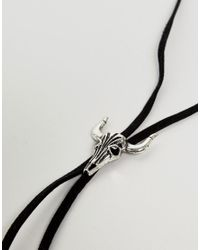 ASOS DESIGN - Bolo Necklace With Rams Head In Black for Men - Lyst