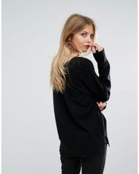 French Connection | Black Delavaree V Neck Sweater | Lyst