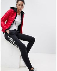 Armani Exchange - Red Fitted Downs Padded Jacket - Lyst