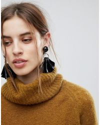 ASOS - Metallic Statement Folded Resin Drop Earrings - Lyst