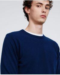 Aspesi - Blue Cashmere Roundneck Sweater for Men - Lyst