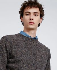 Aspesi - Gray Wool Sweater for Men - Lyst