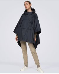 Aspesi - Blue Nylon And Fleece Cape Dublo - Lyst