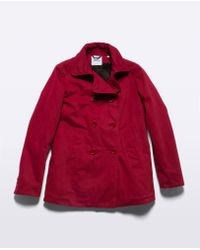 Aspesi - Red Cotton And Thermore Coat Cincia * - Lyst