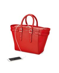 Aspinal - Red The Midi Marylebone Tech Tote - Lyst