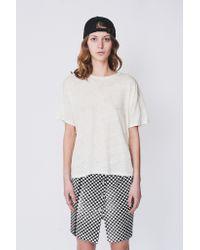 Shaina Mote | White Linen Loose Tee | Lyst