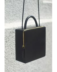 Building Block | Leather Box Bag - Black | Lyst