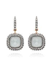 Astley Clarke | Gray Mini Connie Grey Aquamarine Earrings | Lyst