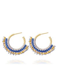 Astley Clarke - Black Moonlight Biography Hoop Earrings - Lyst