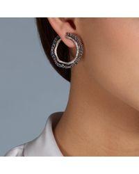 Astley Clarke - Multicolor London Blue Topaz Fao Hoop Earrings - Lyst