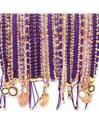 Astley Clarke   Metallic Wide Violet Berry Bracelet   Lyst