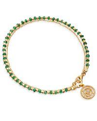 Astley Clarke   Metallic Emerald Aura Fine Biography Bracelet   Lyst