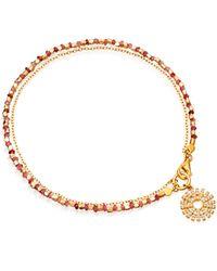 Astley Clarke | Metallic Pink Sapphire Rising Sun Fine Biography Bracelet | Lyst