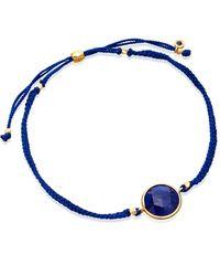 Astley Clarke | Gold-plated Blue Lapis Polka Biography Bracelet | Lyst