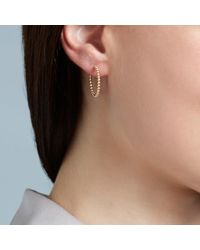 Astley Clarke - Metallic Beaded Hoop Earrings - Lyst