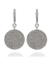 Astley Clarke | Metallic Large Icon 14ct White-gold And Diamond Drop Earrings | Lyst