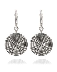 Astley Clarke | Large Icon 14ct White-gold And Diamond Drop Earrings | Lyst