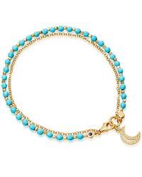 Astley Clarke | Multicolor Turquoise Moon Biography Bracelet | Lyst