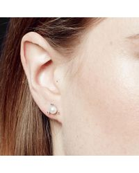 Astley Clarke - White Pearl Pluto Stud Earrings - Lyst