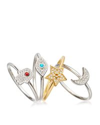 Astley Clarke | Multicolor Mini Star Biography Ring | Lyst