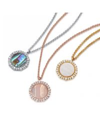 Astley Clarke - Multicolor Luna Mother Of Pearl Pendant Necklace - Lyst
