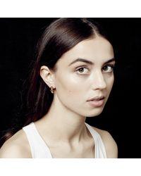 Astley Clarke - Metallic Plain Triple Honeycomb Stud Earrings - Lyst