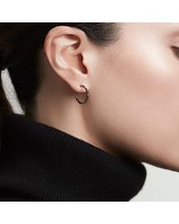 Astley Clarke - Black Diamond Aubar Hoop Earrings - Lyst