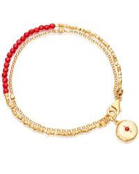 Astley Clarke - Multicolor Sea Bamboo Locket Biography Bracelet - Lyst