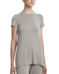 ATM - Gray Sun Bleached Short Sleeve Crew Neck Tee - Lyst