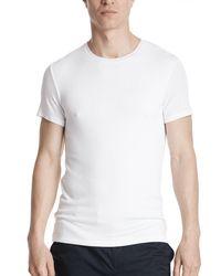 ATM - White Modal Rib Crew Neck Tee for Men - Lyst