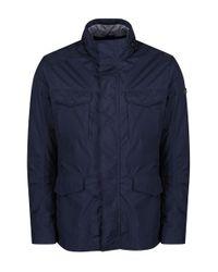 Hackett - Blue Men's Jersey Lined Field Jacket for Men - Lyst