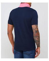 BOSS - Blue Slim Fit Paule 4 Polo Shirt for Men - Lyst